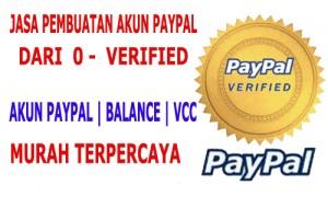 jasa akun paypal verified , VCC , Balance