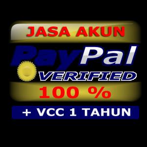 JASA AKUN PAYPAL VERIFIED + VCC 1 TAHUN