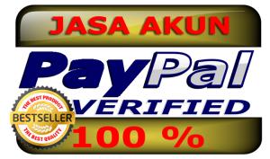 Jasa akun paypal verified murah lengkap