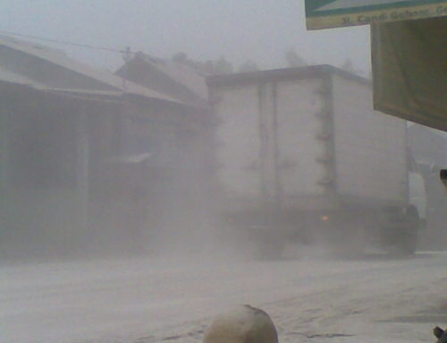 Akibat Letusan Gunung Kelud (14/02/2014) Yogyakarta Hujan Abu Vulkanik