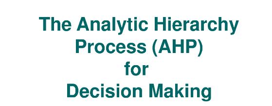 metode AHP