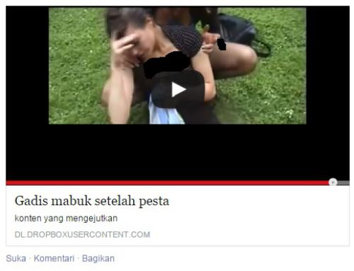 """Malware """"Gadis Mabuk Setelah Pesta"""" Di Facebook Dan Cara Mengatasinya"""