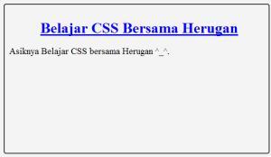 Tutorial CSS dan penjelasan