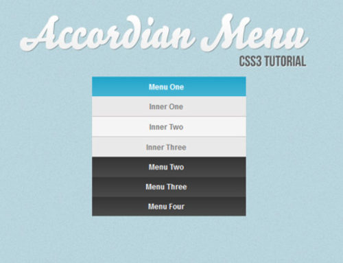 Tutorial Cara Membuat Menu Dengan CSS3 : Accordion Menu Sederhana